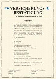 Versicherungs-bedingungen VISA Classic - Frankfurter Sparkasse