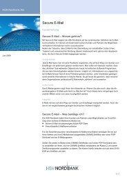 Kurzanleitung Secure E-Mail - HSH Nordbank AG