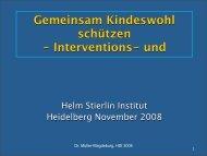 Präsentation (PDF Format) - Helm Stierlin Institut
