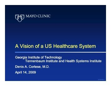 Download the presentation slides - Health Systems Institute ...
