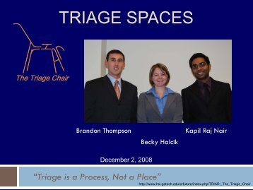 TRIAGE SPACES - Health Systems Institute - Georgia Institute of ...