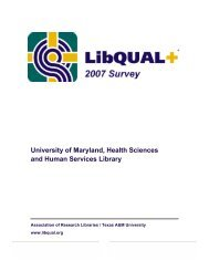 LibQual+ result summary pdf - Health Sciences and Human ...