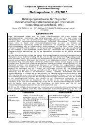 Stellungnahme Nr. 03/2013 ... - EASA - Europa
