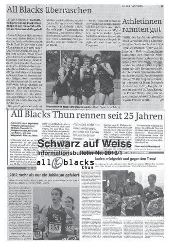 Schwarz auf Weiss - Blacks Thun