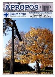 12. Ausgabe - Seite des Blauen Kreuzes