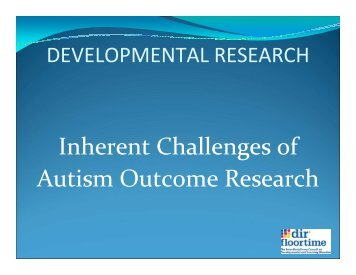 Inherent Challenges of Autism Outcome Research - Health Systems ...