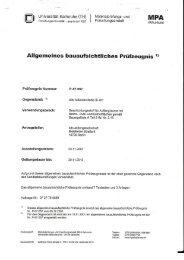 Allgemeines bauaufsichtliches Prüfzeugnis FB 401 - Bito AG