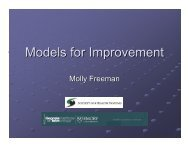 Models for Improvement - Health Systems Institute