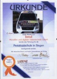 bmd sponsort neues Fahrzeug der Pestalozzi-Schule in - bmd Gmbh