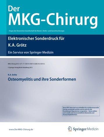 Osteomyelitis und ihre Sonderformen - Dr.-Horst-Schmidt-Kliniken ...