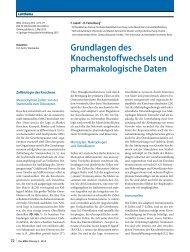 Grundlagen des Knochenstoffwechsels und pharmakologische Daten