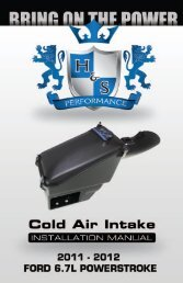 6.7L Cold Air Intake Instruction Manual - H&S Performance