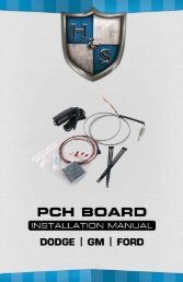 PCH Board Instructions - H&S Performance