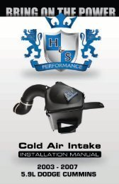 5.9L Cold Air Intake Instruction Manual - H&S Performance