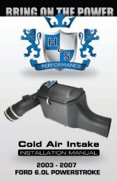 6.0L Cold Air Intake Instruction Manual - H&S Performance