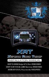 1-888-628-1730 • XRT Installation Manual 1 - H&S Performance