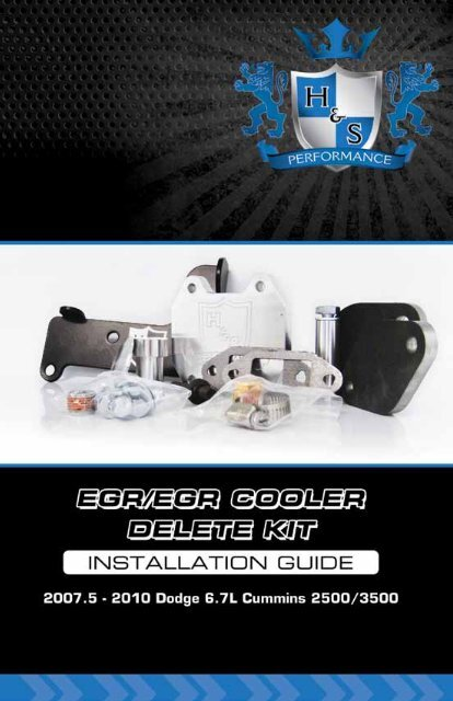 Dodge 6 7 Cummins EGR Delete Installation     - H&S Performance