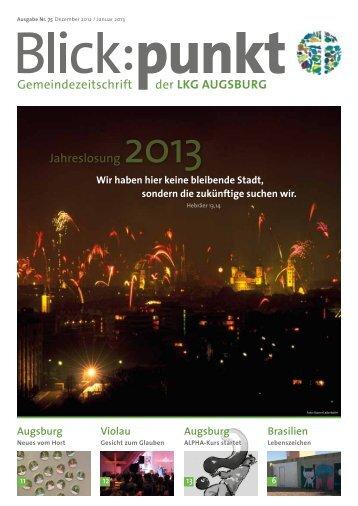Gemeindezeitschrift der Jahreslosung 2013 - Landeskirchliche ...