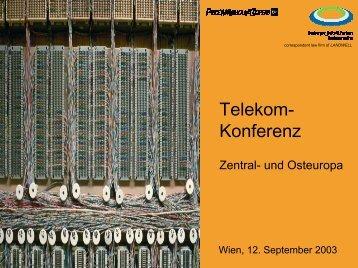 Telekom-Konferenz Zentral- und Osteuropa