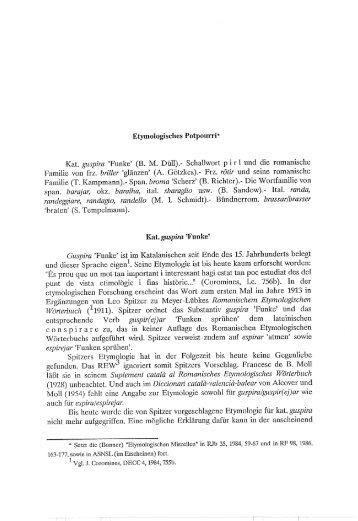 Etymologisches Potpourri'