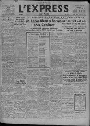 Léon Blum a formé son Cabinet - Presse régionale