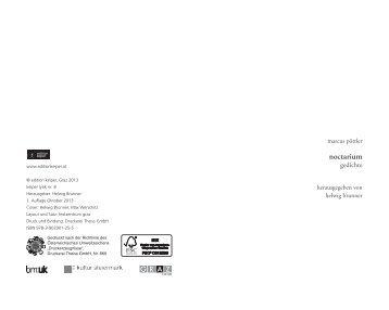 noctarium - Edition Keiper