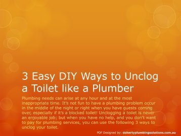 3 Easy DIY Ways to Unclog a Toilet like a Plumber