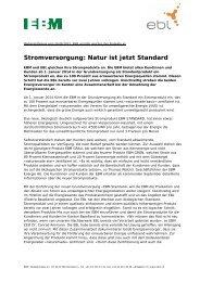 Medienmitteilung vom 26. August 2013 - EBM