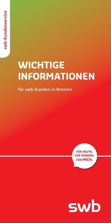 Wichtige Informationen für swb-Kunden in Bremen