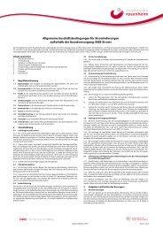 Allgemeine Geschäftsbedingungen Strom - Stadtwerke Rosenheim
