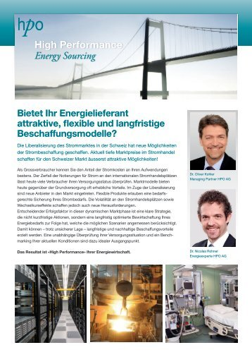 Energie: High Performance Energy Sourcing - HPO