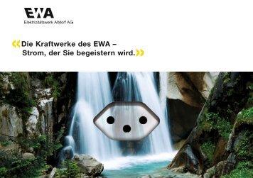 Broschüre Kraftwerke PDF - Elektrizitätswerk Altdorf AG