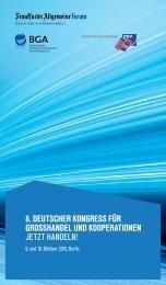 8. deutscher kongress für grosshandel und kooperationen jetzt ... - bga