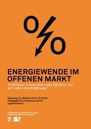Flyer zur Veranstaltung - Schweizerische Energie-Stiftung