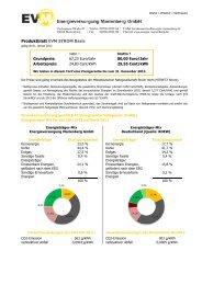 Produktblatt EVM STROM Basis - Energieversorgung Marienberg