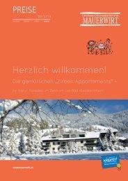 Mauerwirt Preise Winter 2013/14 - Hotel Eschenhof