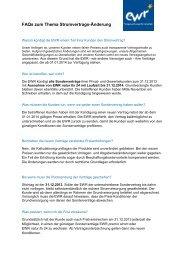 FAQs zum Thema Stromvertrags-Änderung - EWR GmbH