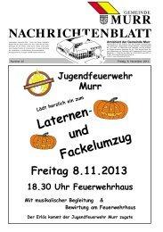 Nachrichtenblatt Nr. 45 vom 8. November 2013 - Gemeinde Murr