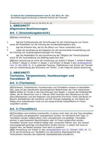 DLH 8 Juli 2013 Nr. 19 - Durchführungsverordnung im Bereich ...