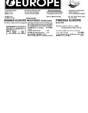 FINESSA EUROPE - bootsservice-vs göttingen