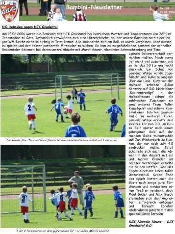 Bambini-Newsletter - DJK Novesia Neuss