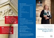 Community Access Program 2013 - Faculty of Humanities & Social ...