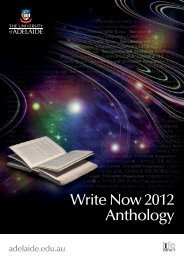 Write Now 2012 Anthology - Faculty of Humanities & Social ...