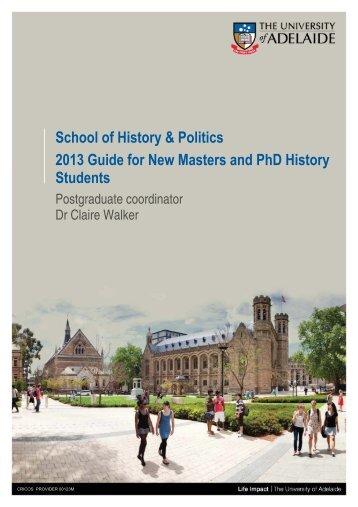 2013 History handbook - Faculty of Humanities & Social Sciences ...