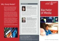 Bachelor of Media - Faculty of Humanities & Social Sciences - The ...