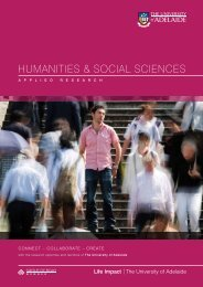 applied research brochure - Faculty of Humanities & Social ...