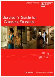 Survivors Guide.pub - Faculty of Humanities & Social Sciences ...
