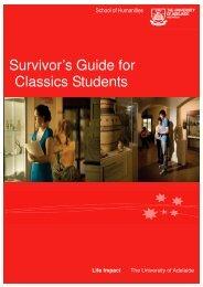 Survivors Guide.pub - Faculty of Humanities & Social Sciences ...