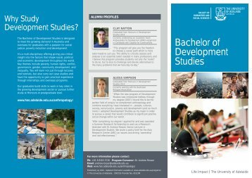 Bachelor of Development Studies - Faculty of Humanities & Social ...