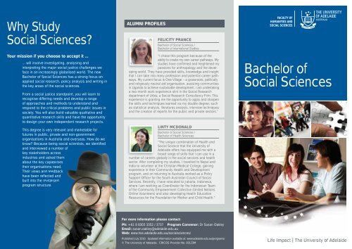 Bachelor of Social Sciences - Faculty of Humanities & Social ...